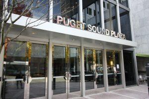 Seattle Smiles Dental – Puget Sound Plaza Building Entry