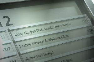 Seattle Smiles Dental – Building Signage
