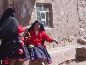 Spinning Wool – Isla Taquile Lake, Titicaca, Peru
