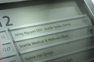 Seattle Smiles Dental – Building Signage