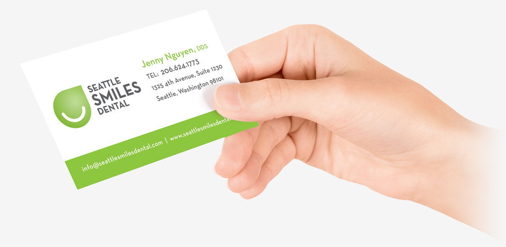 Seattle Smiles Dental Business Card