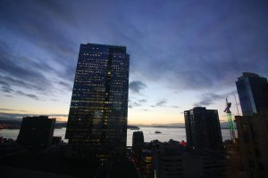 Seattle Smiles Dental – Sunset View from Office